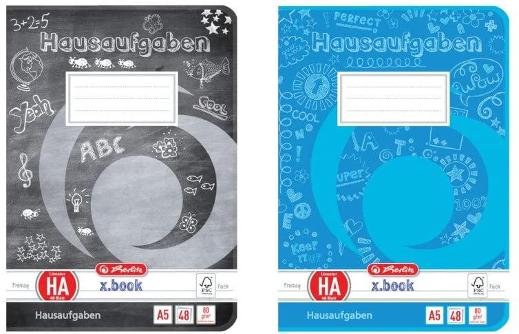 Herlitz Aufgabenheft A5, holzfreies Papier, 80 g/m², 48 Blatt, weiß (Amazon Prime)