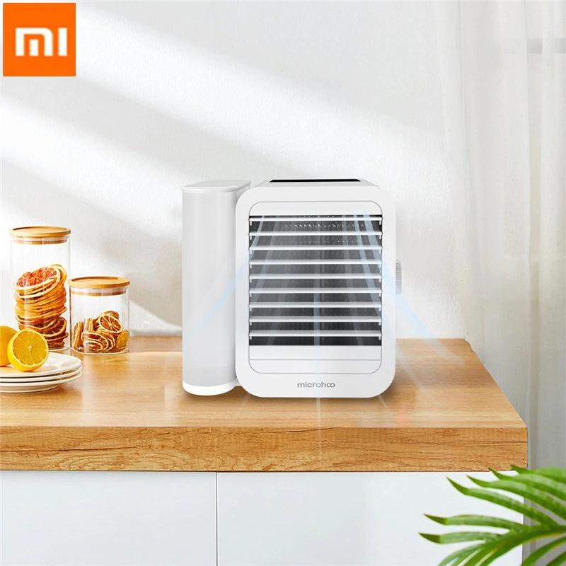 Microhoo 3 In 1 Mini Klimaanlage Wasser Lüfter Touch Screen bei Aliexpress Mi Eco-chain Store