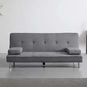 Bessagi Home 'Esther' Sofa mit Schlaffunktion in Grau