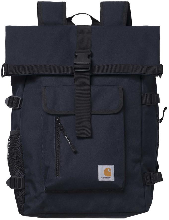 Carhartt Philis Backpack in dark navy mit 21,5l Volumen und Roll-Top-Konstruktion