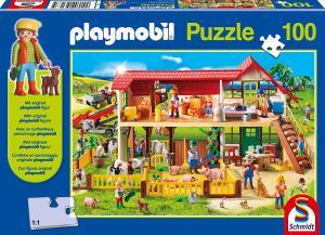 Schmidt-Spiele Playmobil Bauernhof Puzzle (100 Teile) mit Playmobil-Figur für 5,99€ (Amazon Prime & Galeria Kaufhof)