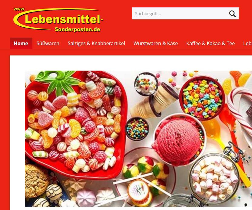 Lebensmittel-Sonderposten - Rabatt auf ALLES