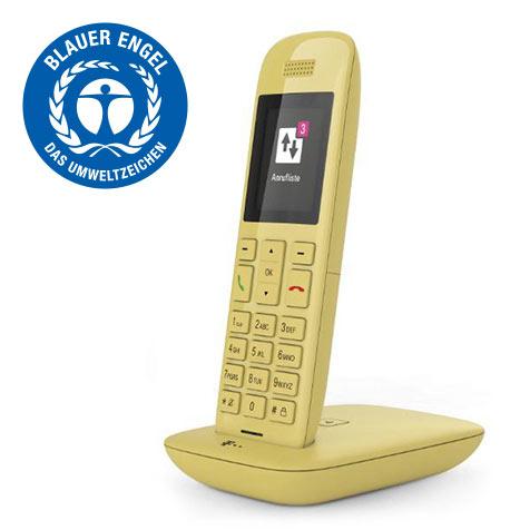 Speedphone 11 gelb mit Basis und Anrufbeantworter