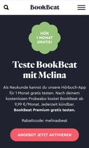 1 Probemonat BookBeat Premium Gratis!