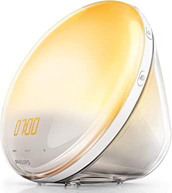 Philips HF3531/01 Wake-Up Light, Sonnenaufgangfunktion, Touchdisplay, 7 Wecktöne, digitales FM Radio, Tageslichtwecker