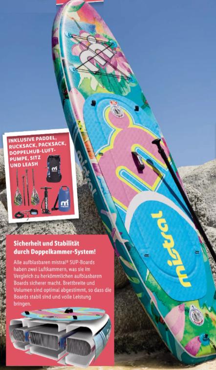 "mistral SUP-Board 10'6"" - Komplett-Set bei Lidl (regional ab 09.07. wieder verfügbar)"