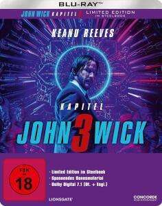 John Wick: Kapitel 3 Limited Steelbook (Blu-ray) für 9,97€ & 4K UHD + Blu-ray für 16,97€ (Amazon)