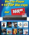 Blu-ray Player + 10 Blu-rays für 139,99 € bei WoV