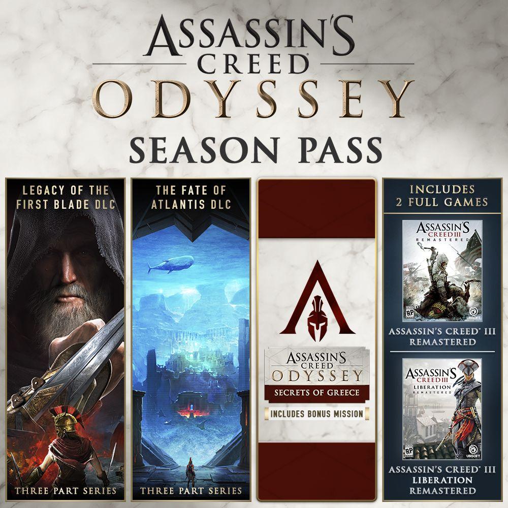 Assassin's Creed Odyssey Season Pass (beinhaltet Assassin's Creed III Remastered ) für 9,99€(PC)