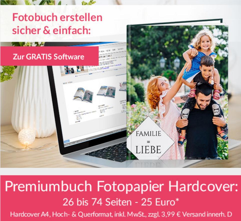 Echtfotobuch   Leporello Bindung   A4   26-74 S.   20€   Fotobuch
