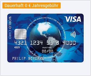 ICS Visa World Card Kreditkarte abschließen und bis zu 7500 WEB.Cent (75 Euro) erhalten