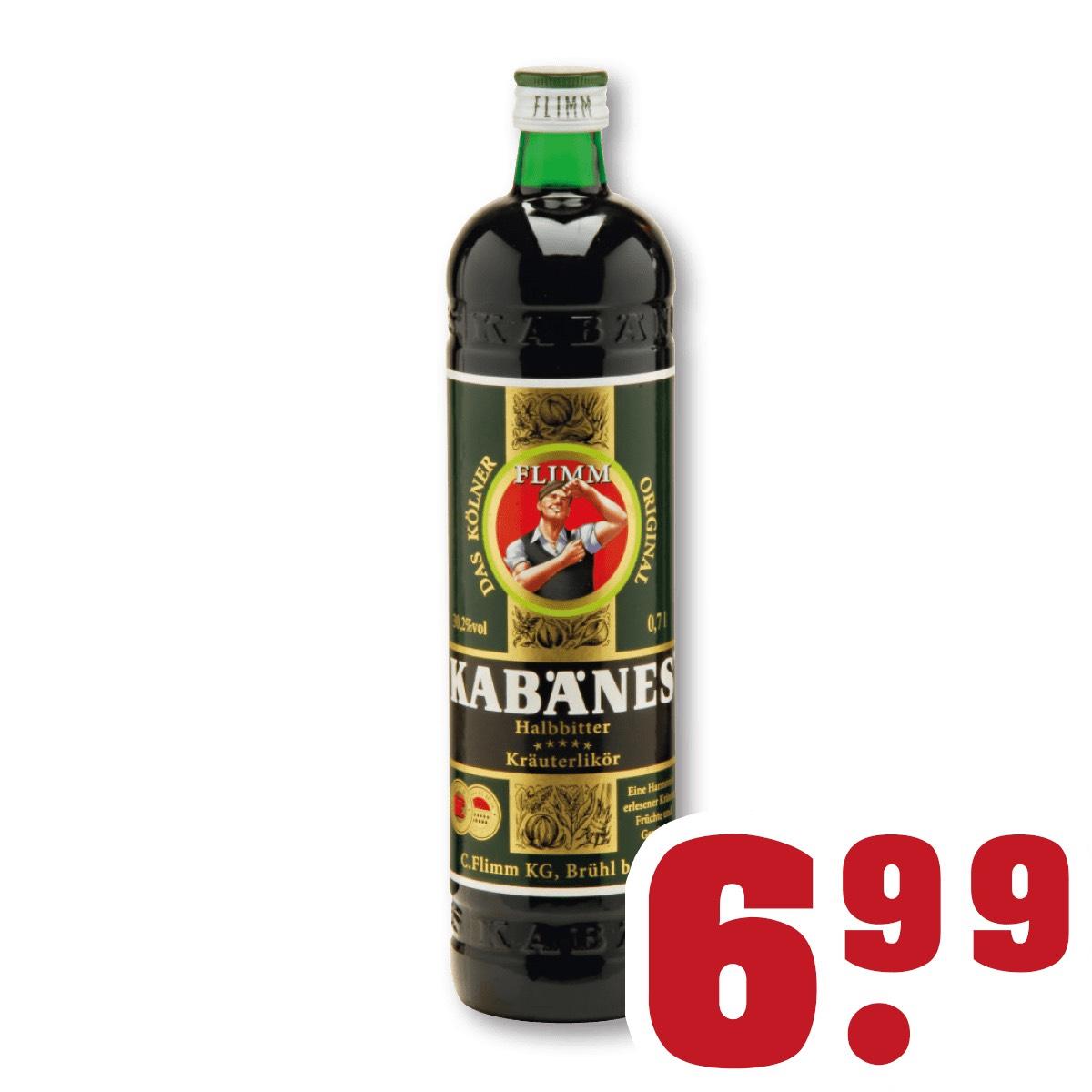 Trinkgut in NRW - Kabänes Kräuter Halbbitter 30,2% 0,7L für 6,99 €