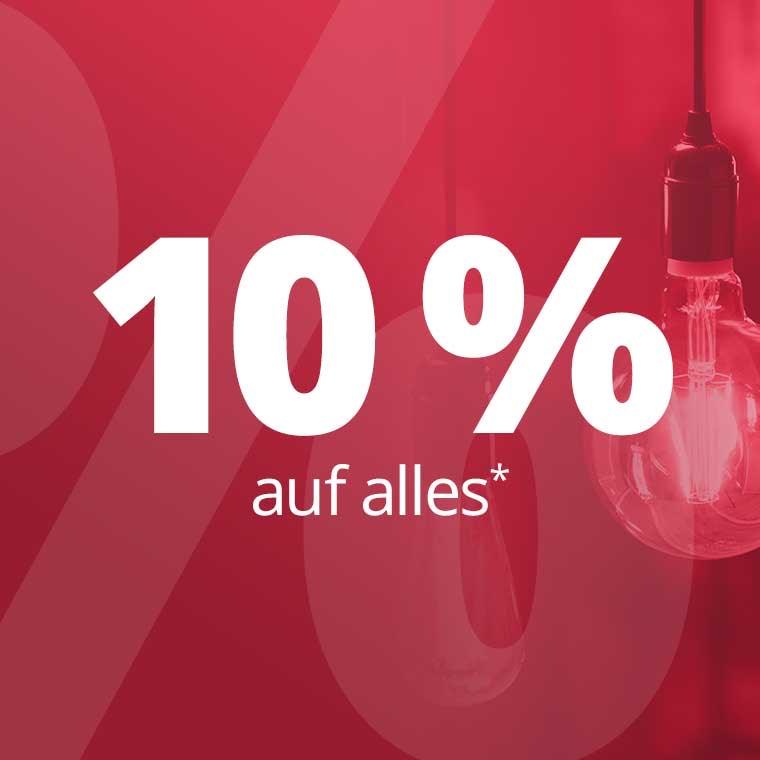 10% auf alles bei Lampenwelt.de ohne MBW