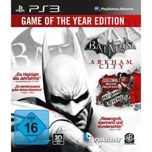 Batman: Arkham City Game of the Year Edition PS3 / XBOX @ Saturn Late Night Shopping für 15,00 EUR