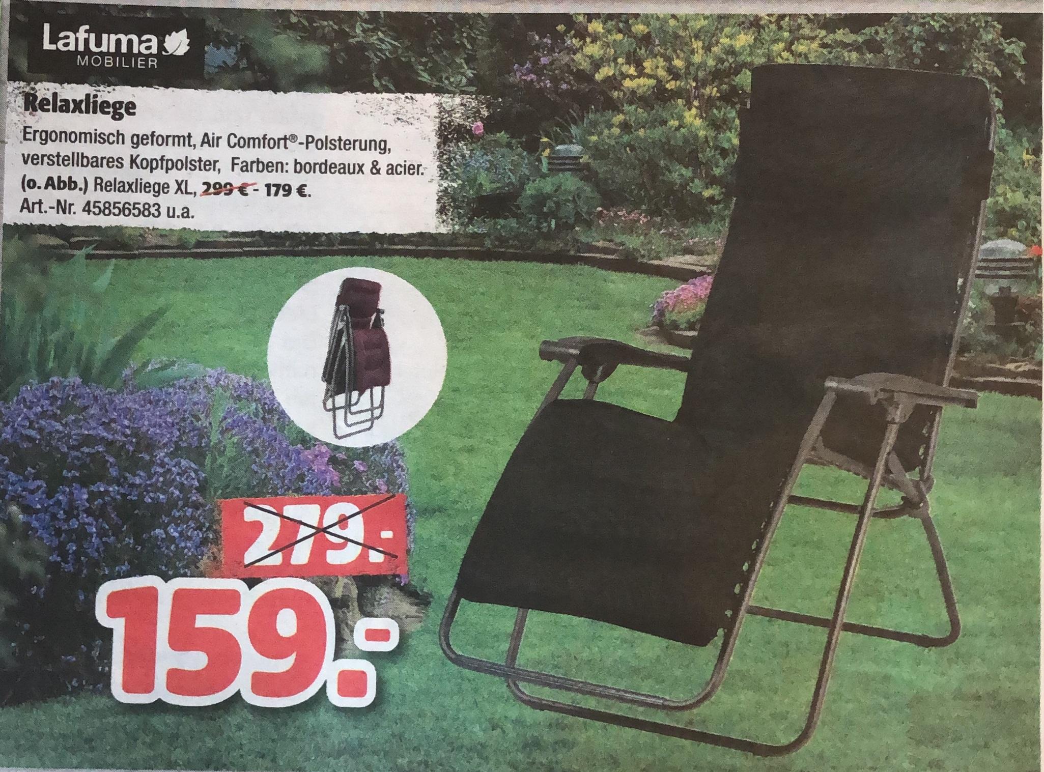 [Lokal München] [Amazon] Hagebau Lafuma RSX Clip XL Relaxliege