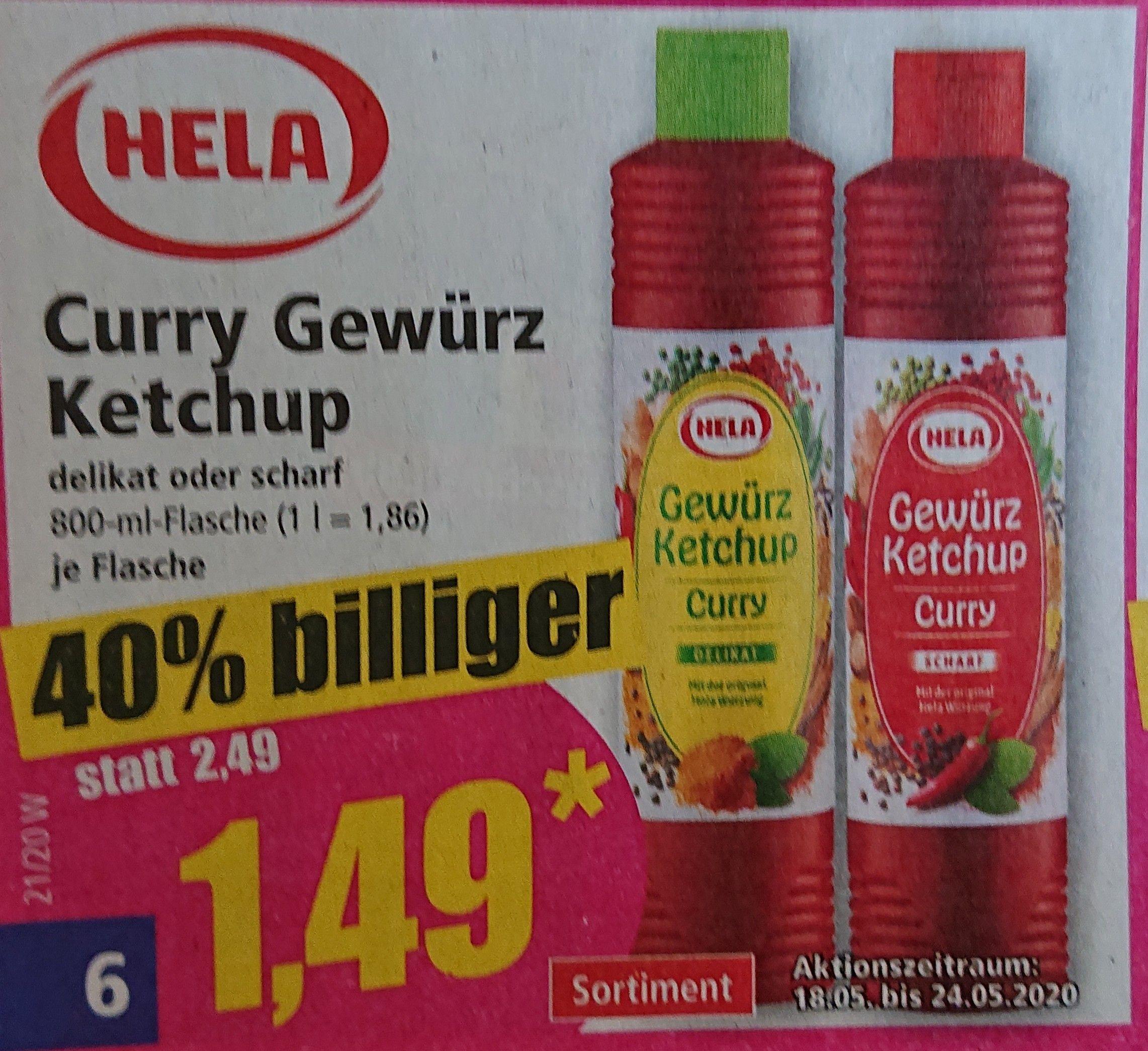 Hela Gewürz Ketchup 800/860 ml für 1,49 - 1,55 € [Norma] [Penny] [REWE] [18. - 23.05.]
