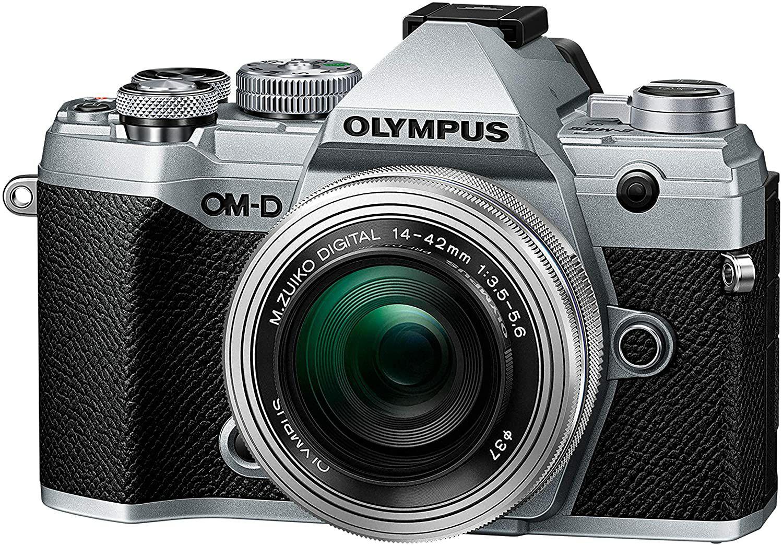 Olympus OM-D E-M5 Mark III silber mit Objektiv MFT M.Zuiko digital ED 14-42mm f3.5-5.6 EZ (Amazon.es)