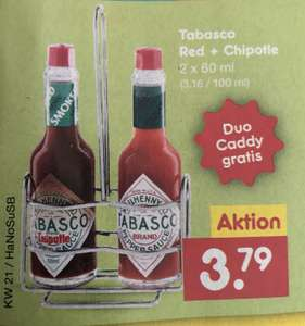 [Netto M-D] Tabasco Red + Chipotle + Duo Caddy 3,79€
