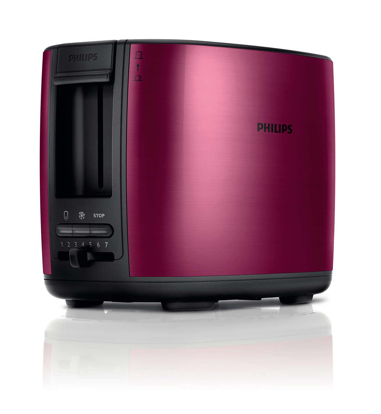 Philips Toaster Avance Collection HD2628 (Auftau und Aufwärmfunktion, inklusiv Brötchenaufsatz, 950 W) für 18,96€ mit CorporateB!