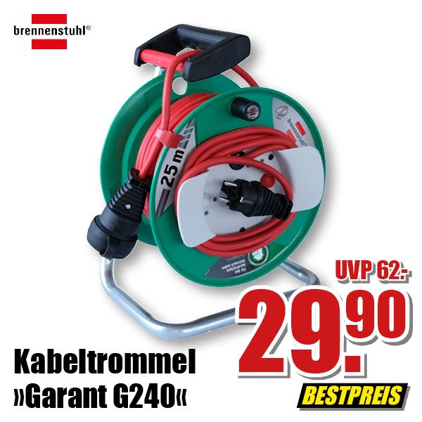 [Offline B1 Discount] Brennenstuhl Garten Verlängerungstrommel IP44 N05V3V3-F3G1,5 Garant G 240