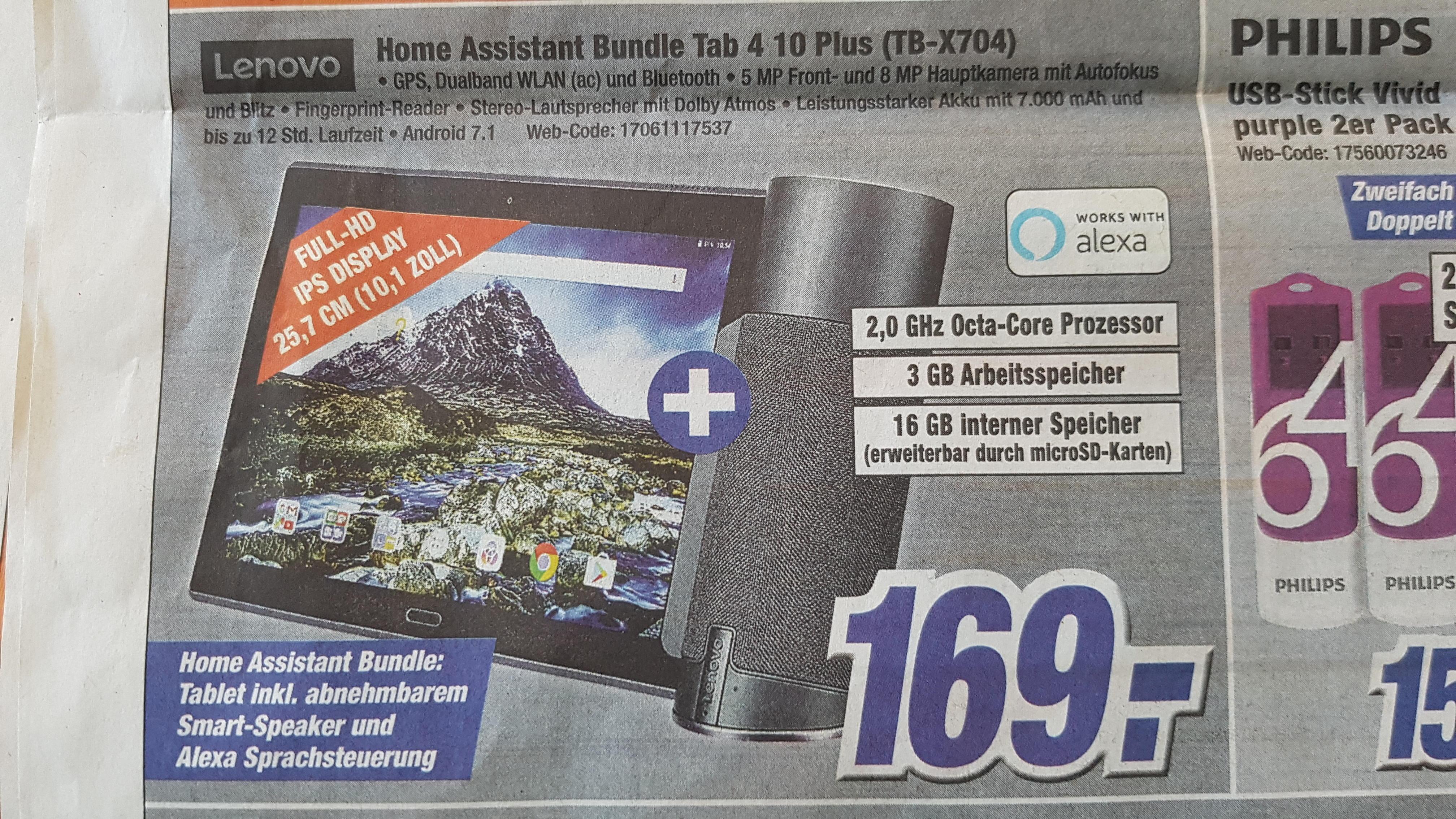 Lenovo Tab S4 10 Plus Home Assistant Bundle (TB-X704)