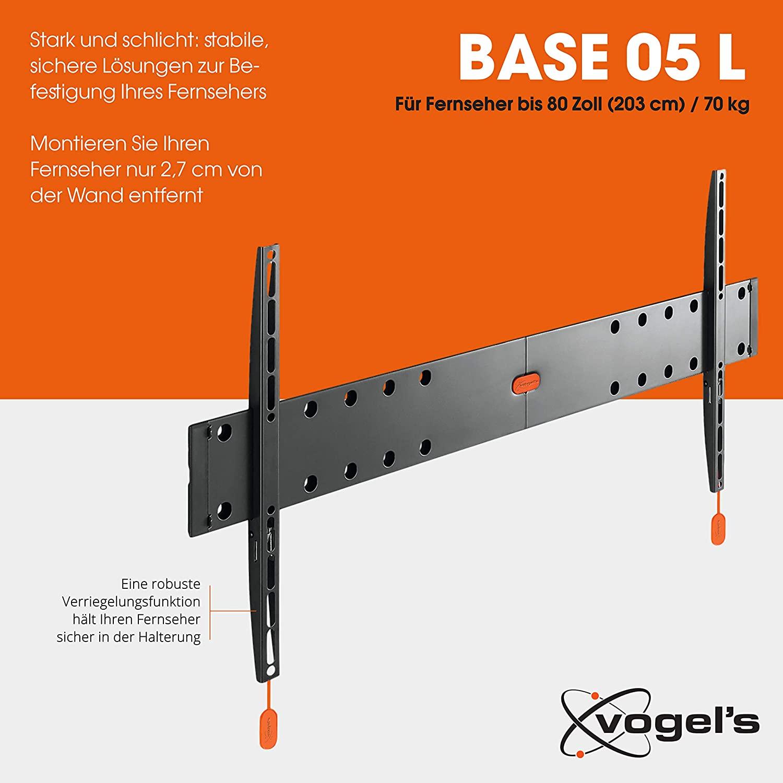 VOGEL'S BASE 05 L Flache TV Wandhalterung VESA 40-80 Zoll Fernseher @Amazon