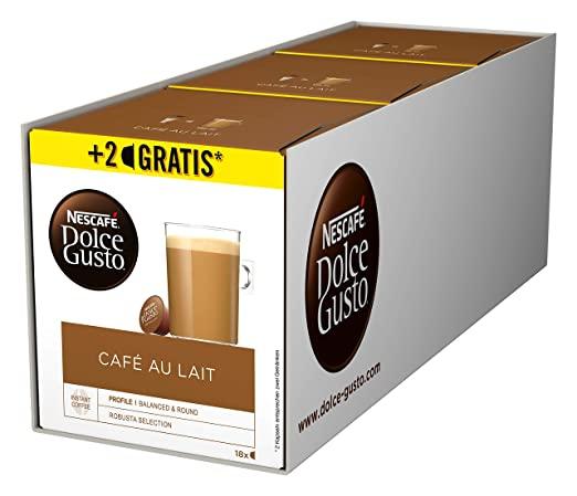 [amazon] NESCAFÉ Dolce Gusto Café au Lait 3x 16 (+3x 2 gratis) - bis zu 15% Spar-Abo zusätzlich möglich