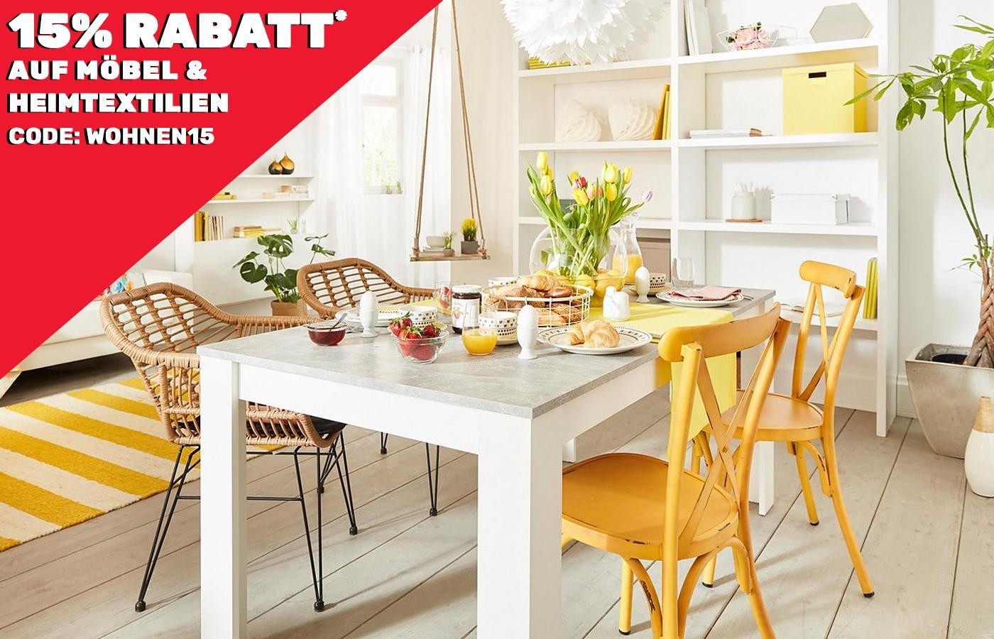Neckermann 15 % Rabatt auf Möbel & Heimtextilien