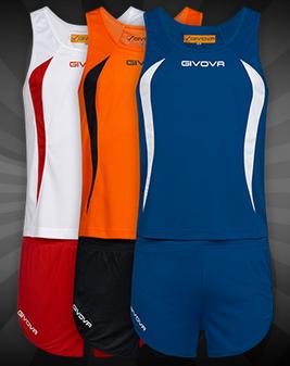 """Givova Leichtathletik-Set """"Kit Boston"""" (5 Farbvarianten verfügbar, Größe XS - XL) [SportSpar]"""