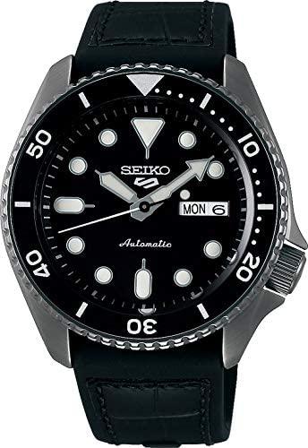 Seiko 5 Specialist SRPD65K3 - Herren-Uhr - Automatik - Leder-Silikonarmband, versandkostenfrei für Prime-Kunden