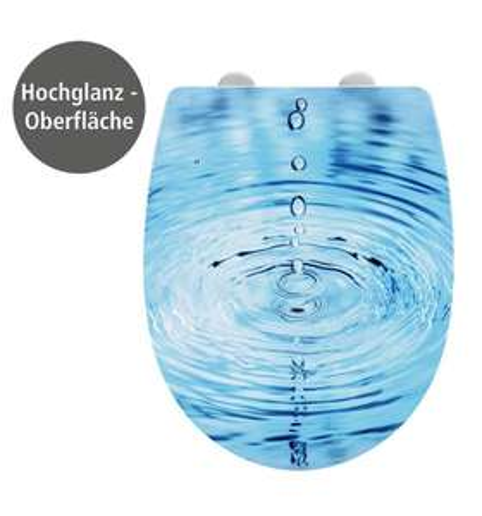 Wenko WC-Sitz Droplets blau