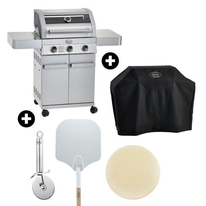 Rösle Gasgrill Gourmet G3 inklusive Abdeckhaube und Pizza-Set bei Zurbrüggen