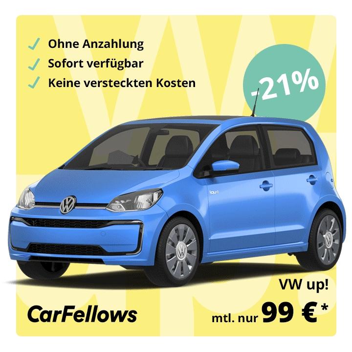 VW up! ab 99,- Euro + Lieferung (Privatleasing, 48 Monate und 10.000km)