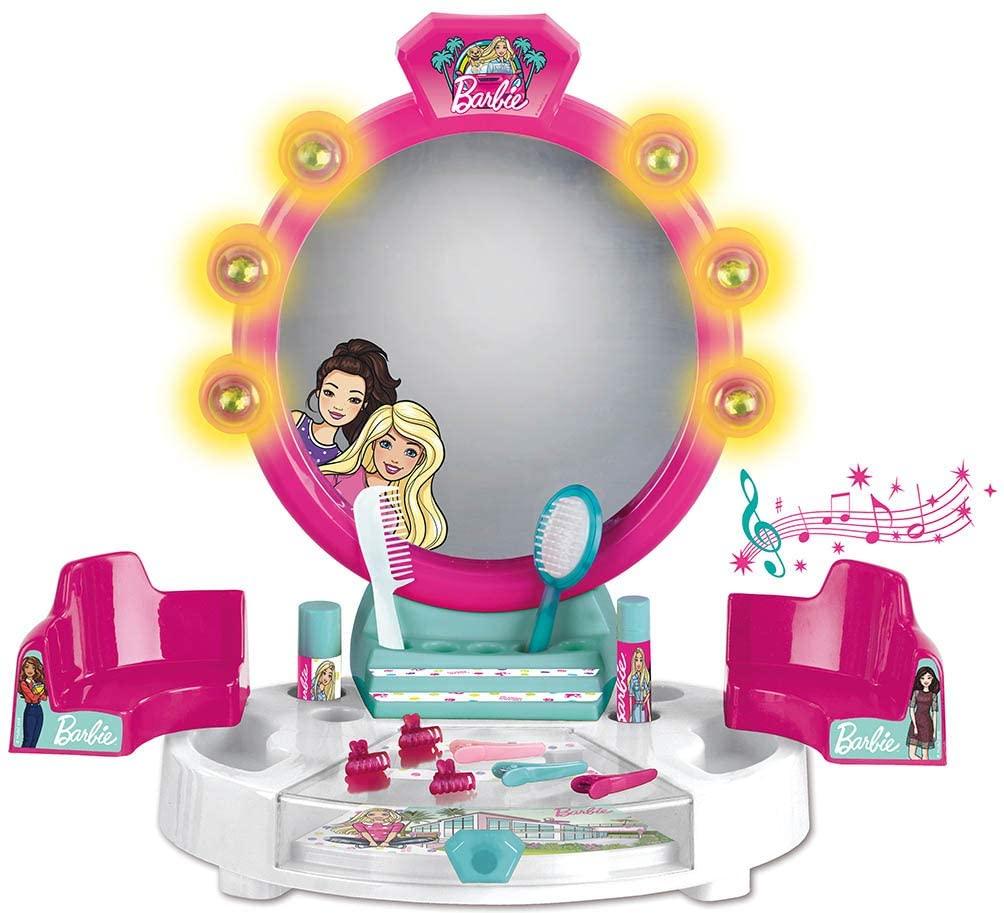 ( Amazon Prime ) Barbie Schönheitsstudio mit Licht-und Soundfunktion Tischversion mit Zubehör von Theo Klein