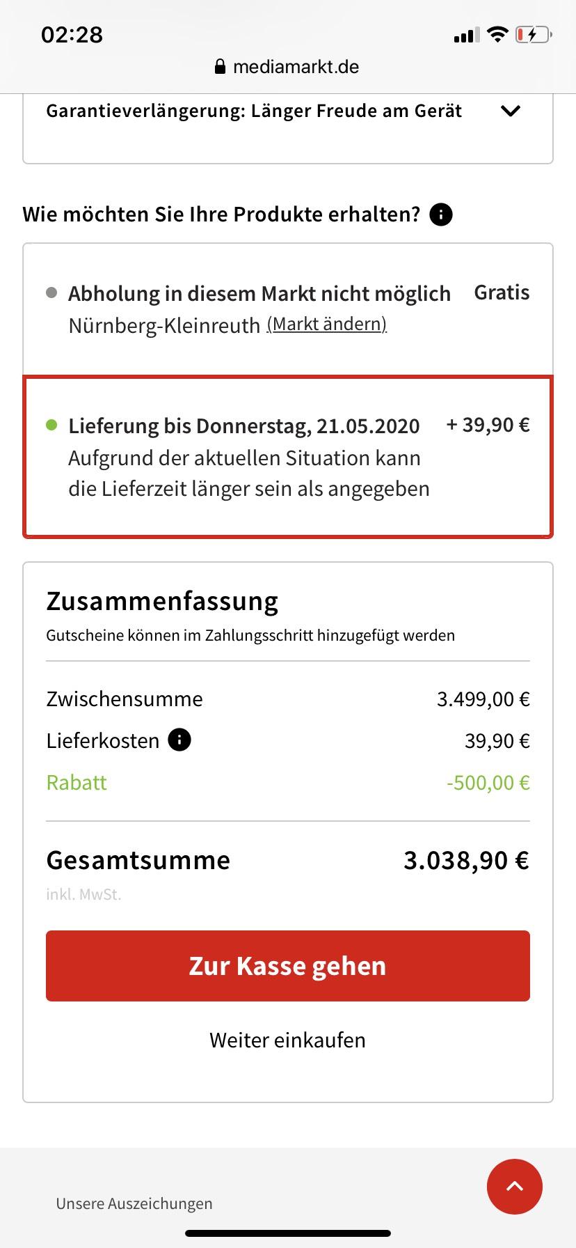Sony KD85XG9505 dank 500€ Rabatt bei Mediamarkt und Saturn