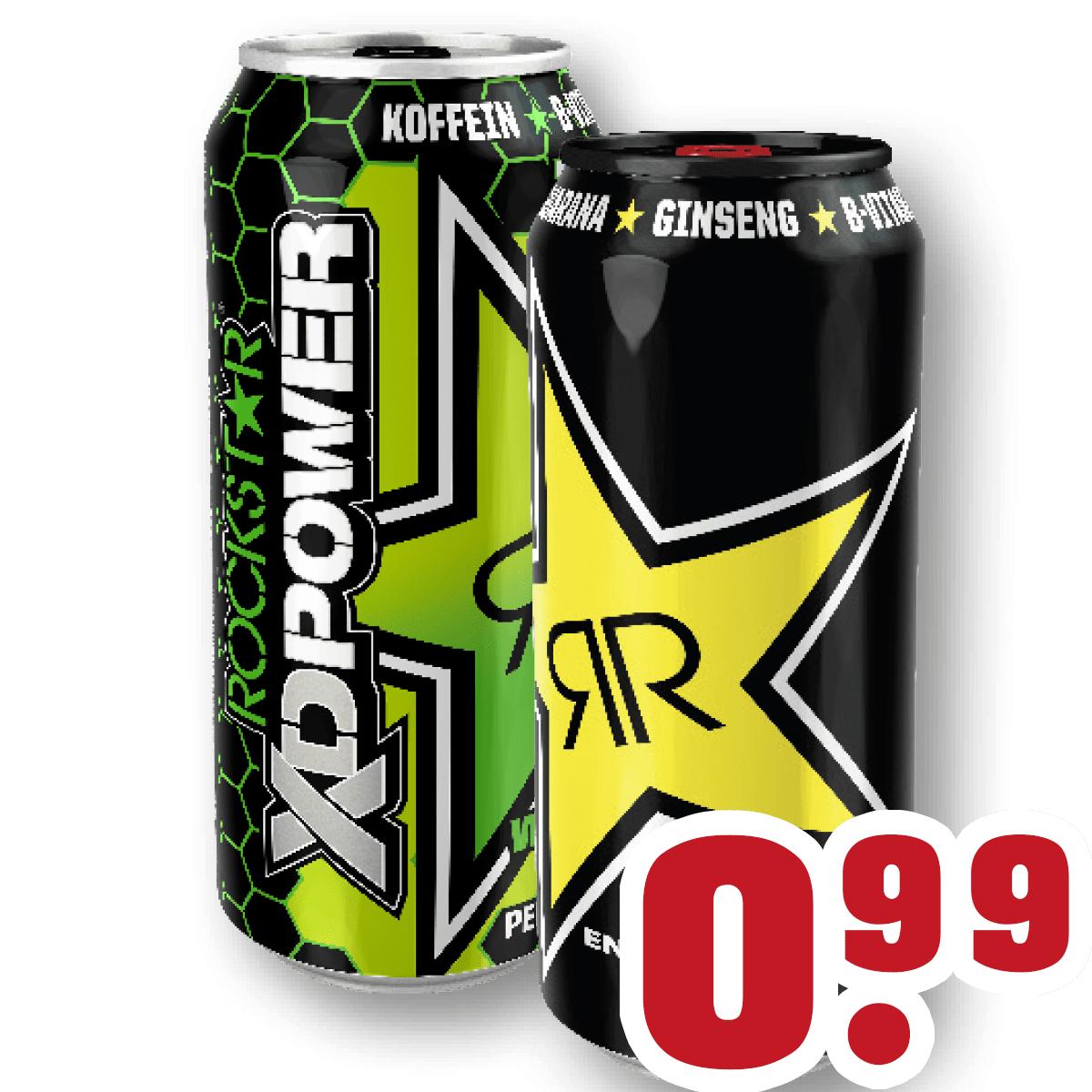 Trinkgut NRW - Rockstar Energy Drink (verschiedene Sorten) - 0,5 L für 0,99 € (zzgl. Pfand)