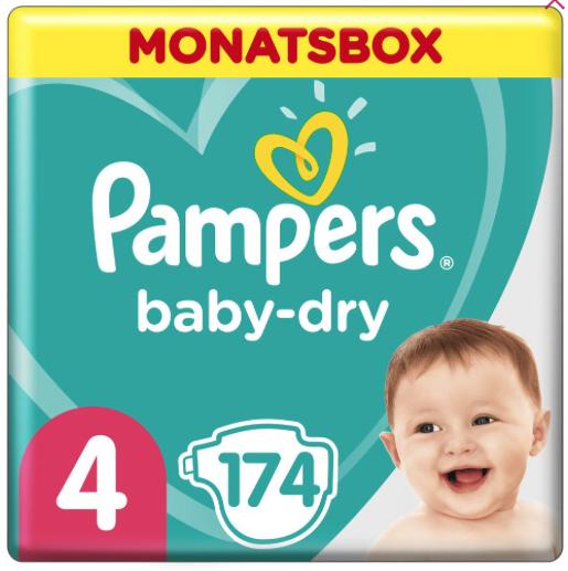 25% Rabatt auf Pampers Baby Dry und Baby Dry Pants bei [windeln.de] z.B. 4er 174 Stück