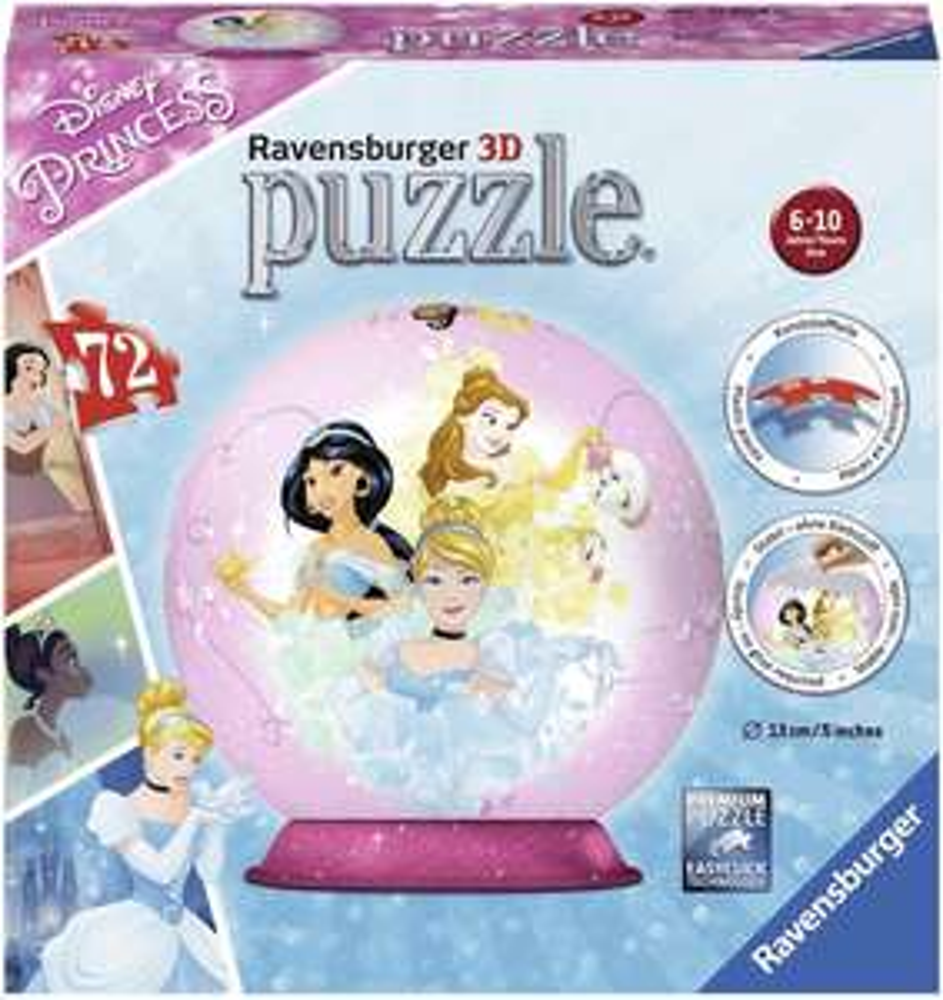 Ravensburger 3D Puzzle-Ball Disney Princess für 6,99€ (Amazon Prime & Galeria Kaufhof