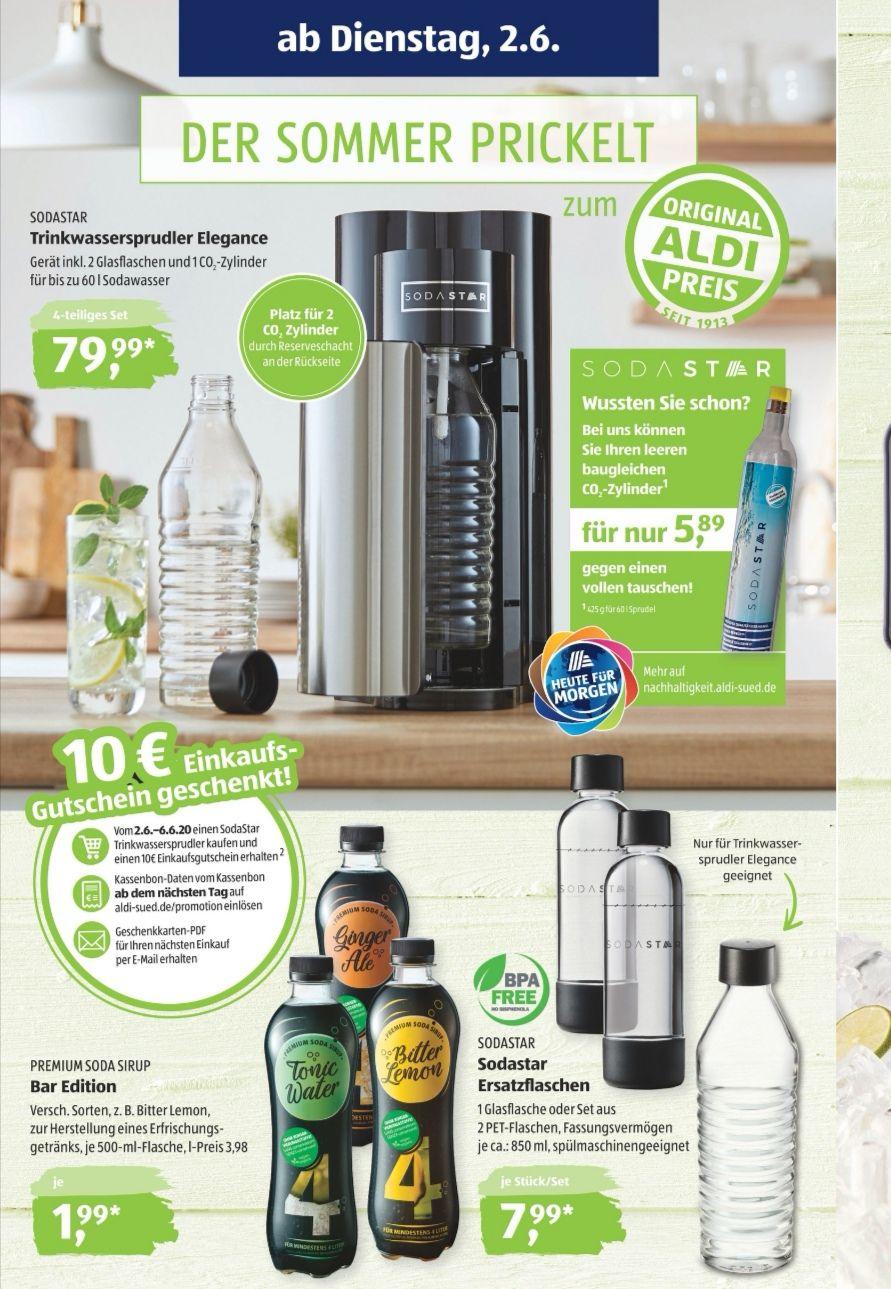 Sodastar Trinkwassersprudler Elegance bei Aldi Süd ab 2.6
