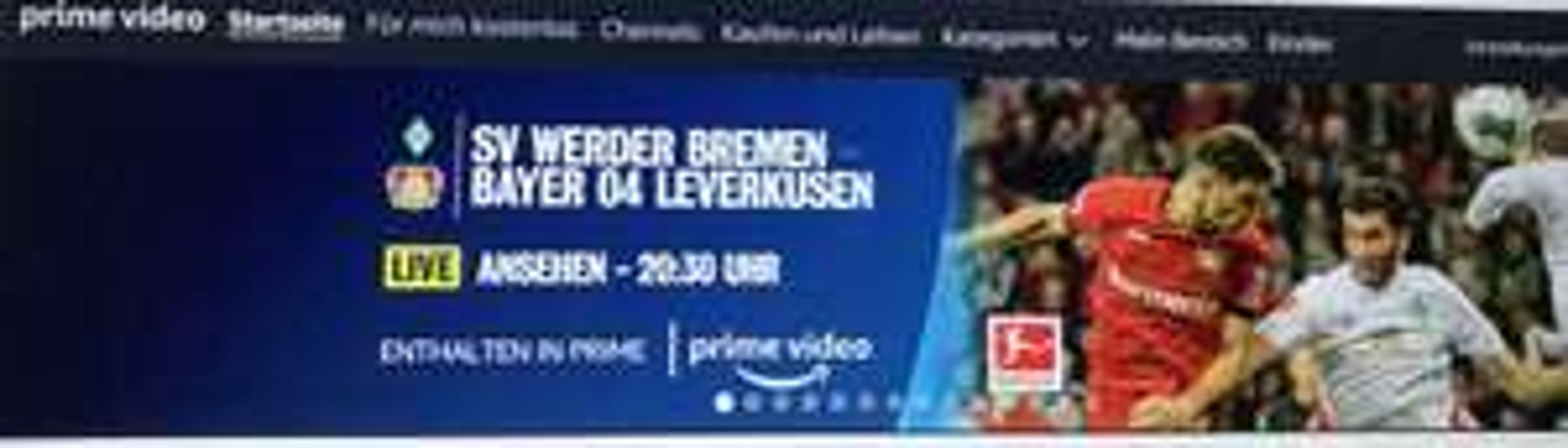 [Amazon Prime Member] Fußball Bremen vs. Leverkusen