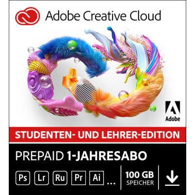 Adobe Creative Cloud (Student & Teacher) Prepaid 1-Jahreslizenz