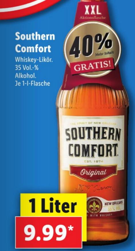 [Bundesweit-Lidl] Southern Comfort 1 Liter für 9,99 €