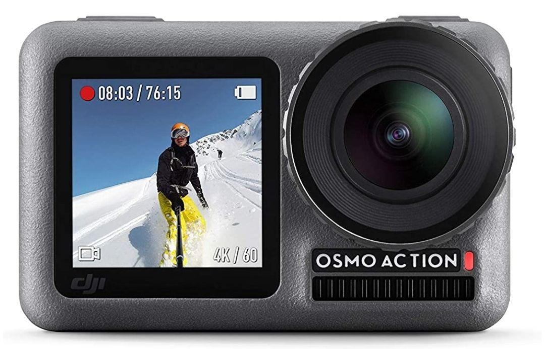 DJI Osmo Action Cam (Digitale Actionkamera mit 2 Bildschirmen, 11m wasserdicht, 4K HDR-Video, 12MP, 145° Winkelobjektiv) Schwarz