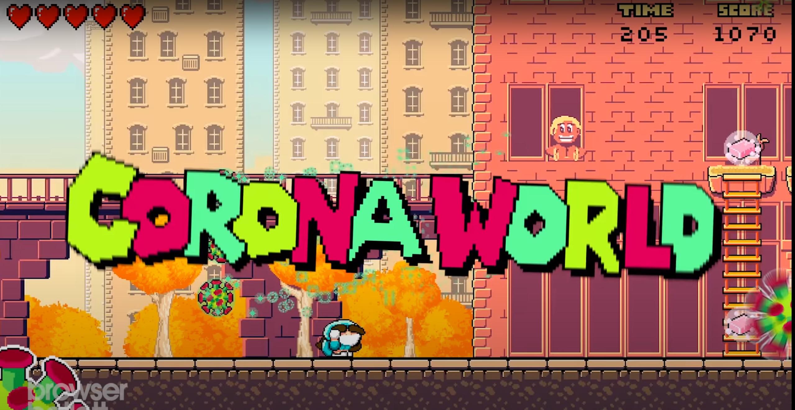 Corona World witziges Jump & Run im Browser oder als Download Kostenlos