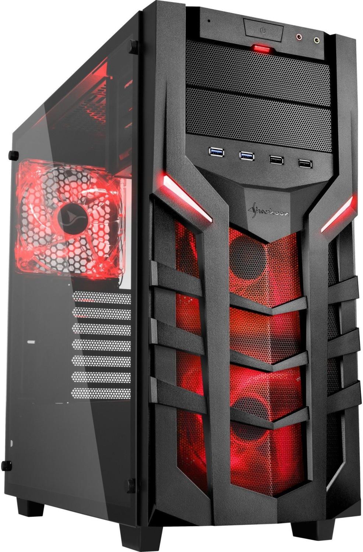 PC-Gehäuse Sharkoon DG7000-G (rot oder grün) für 51,89€ | DG7000-G RGB für 66,89€ | AI7000 Glass (rot oder grün) für 56,89€