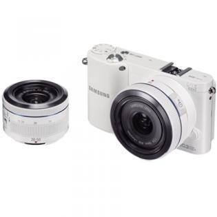SAMSUNG NX1000 mit 2 Objektiven (Systemkamera) weiss