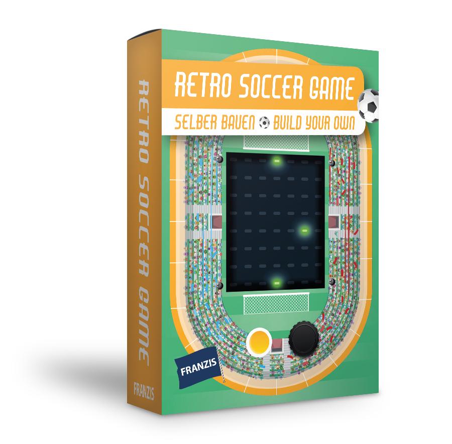 Franzis Retro Soccer Game zum Selberbauen (Bausatz, Gehäuse & Anleitung)