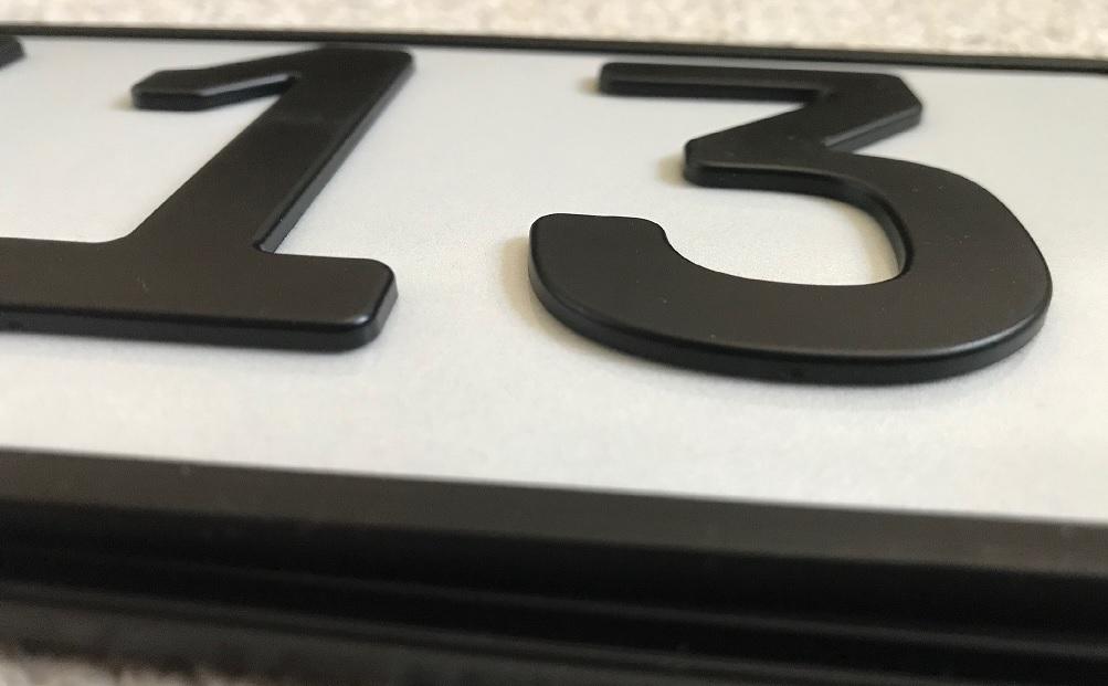 3D KFZ Kunststoff Kennzeichen - 21% Vatertagsrabatt!