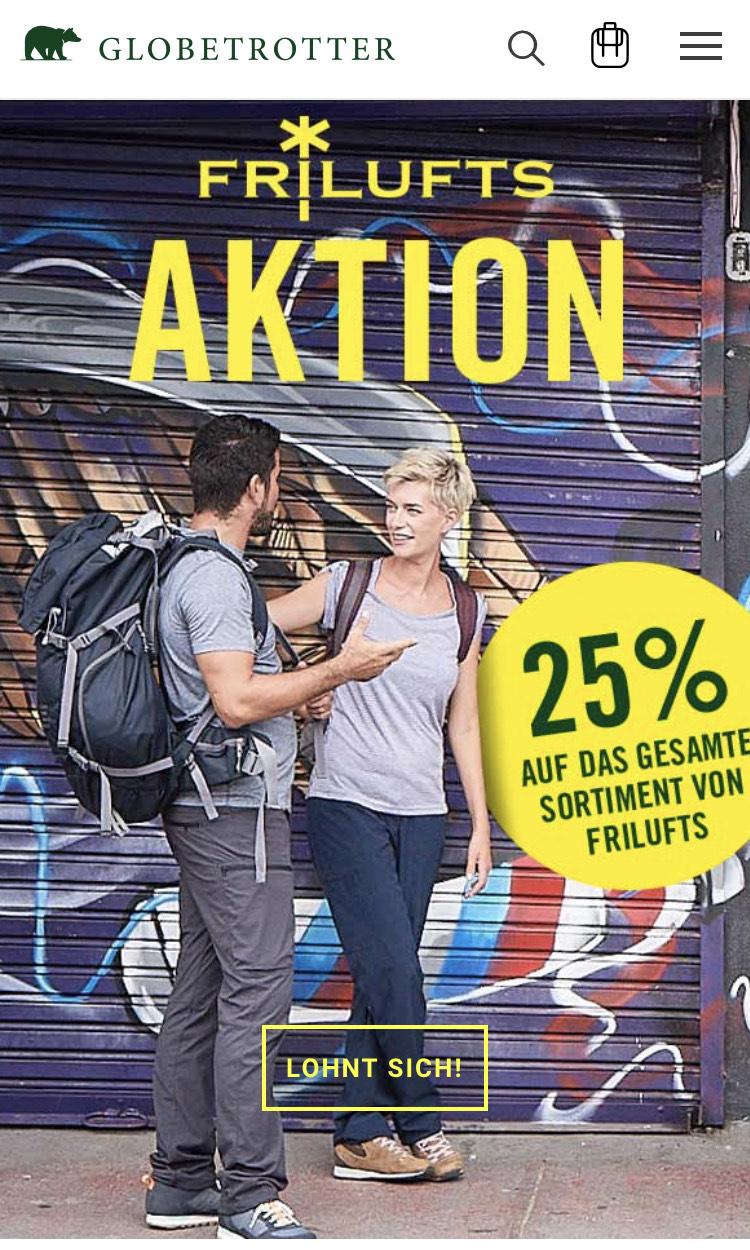 25% Rabatt auf Frilufts bei Globetrotter Ausrüstung