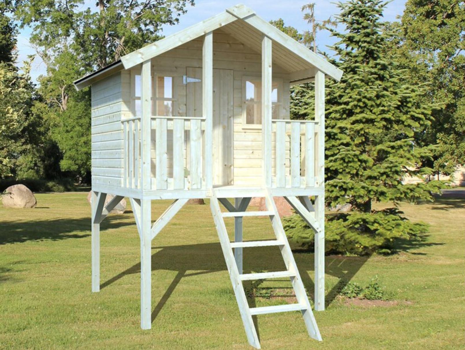 OBI 10% Rabatt auf ausgewählte Spielhäuser & Schaukeln - z.B. Palmako Spielturm Toby mit Holzleiter Fichte 287 cm x 212 cm x 284 cm